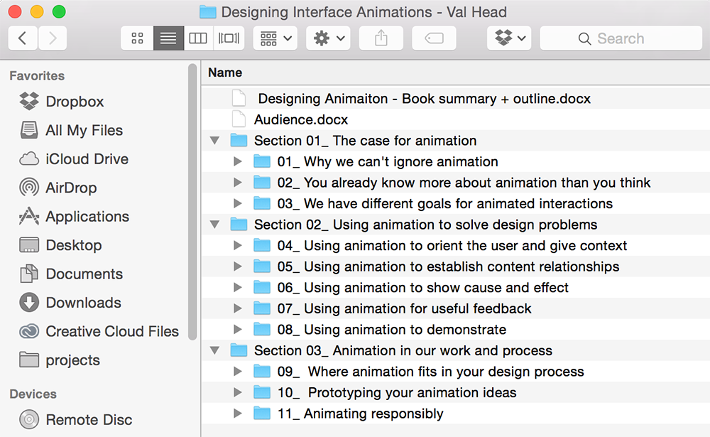 Designing Interface Animations - A book in progress