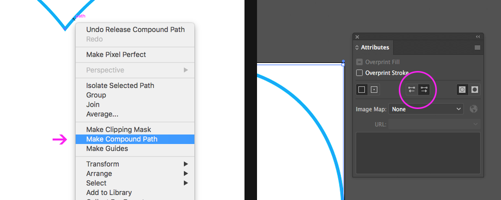 Making a compound path in Illustrator