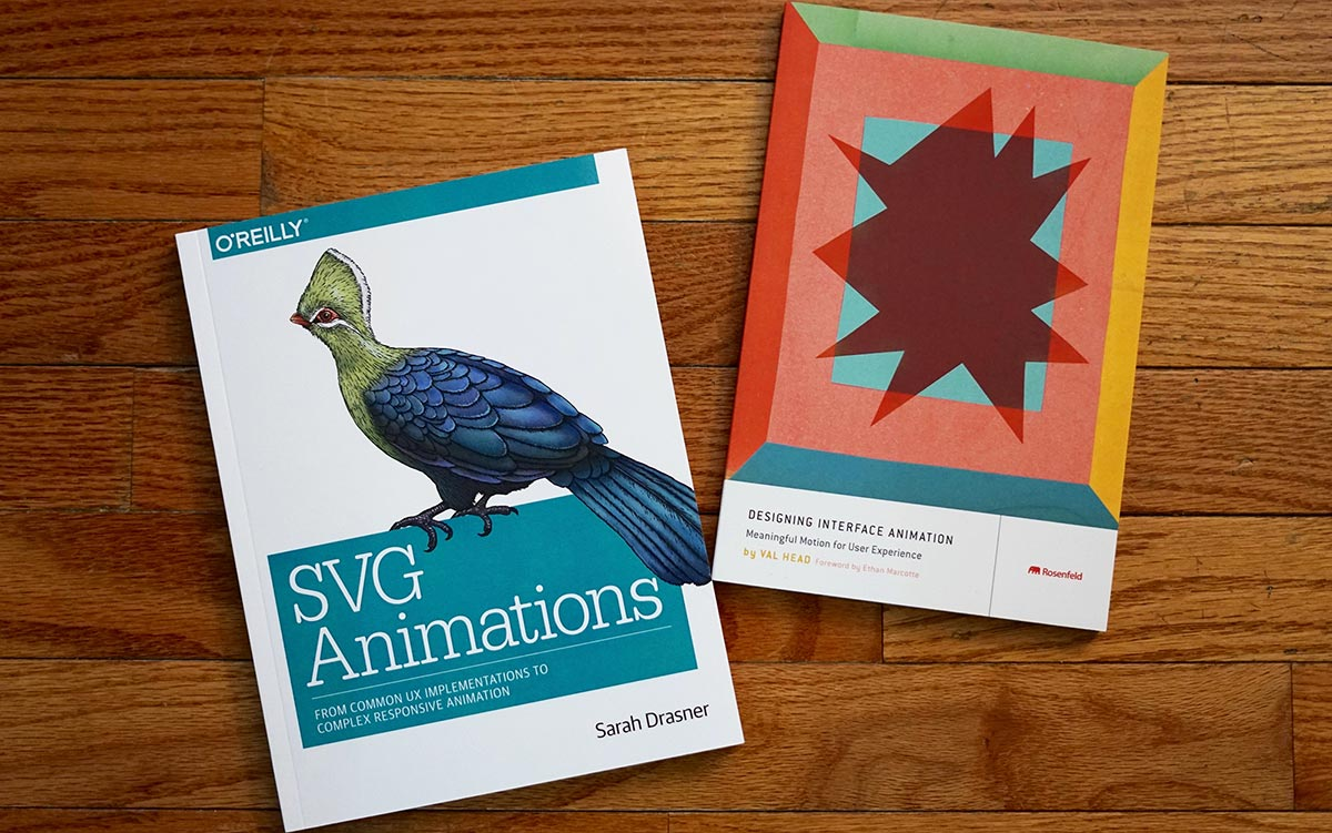 SVG Animations and Designing Interface Animation books together